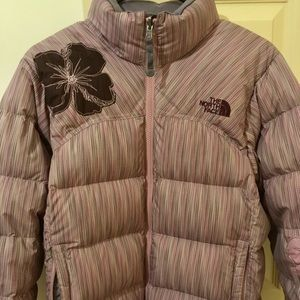 North face special edition flower jacket